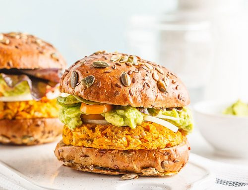 המבורגר טבעוני מלא בריאות